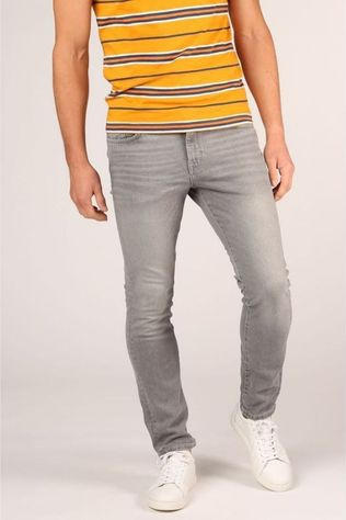 Selected Jeans Slhslimleon Gris Clair