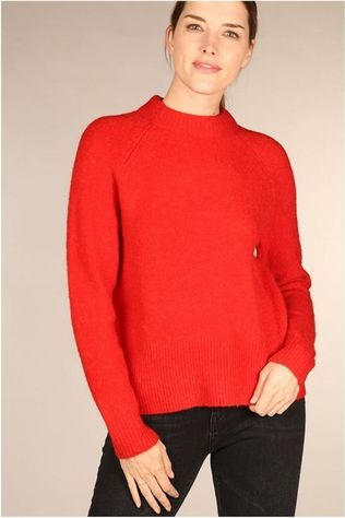 Yas Pull Yasneona Knit Neon Rouge