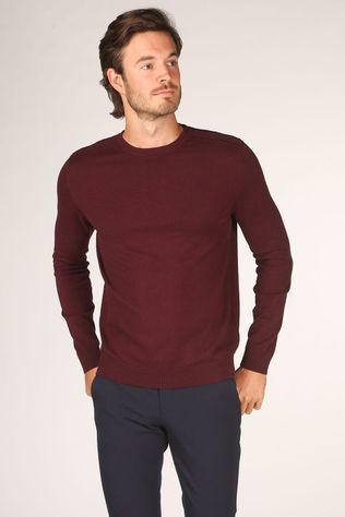 Selected Pull berg Crew Neck B Noos Bordeaux / Marron