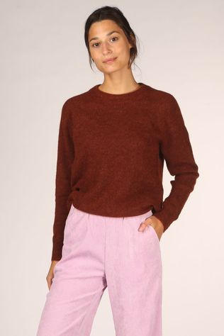Selected Trui lulu Ls O Neck Nos Roest