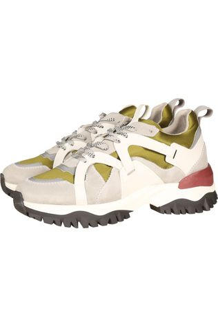 Selected Sneaker Amy Trail Trainer Lichtgrijs/Middengroen