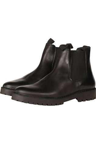 Selected Bottine Shl Ricky Leather Chelsea Boot Zwart