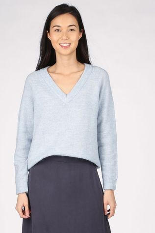 Selected Pull lulu Ls V Neck Nos Bleu Clair