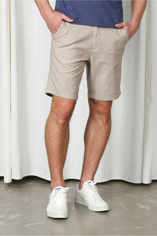 Selected Short Slhmiles Flex Linen W Zandbruin