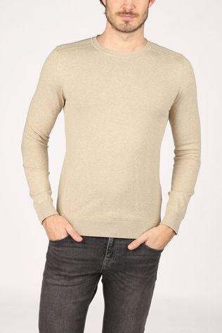 Selected Trui berg Crew Neck B Noos Lichtbruin
