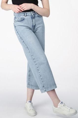 Selected Jeans Slfthea Hw Wide Crop Elli Blue Lichtblauw/Denim / Jeans