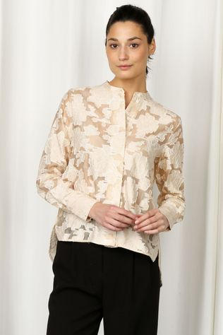 Selected Blouse Slfsadie Ls Ecru