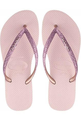Havaianas Tongs Slim Glitter Rose Clair/Or