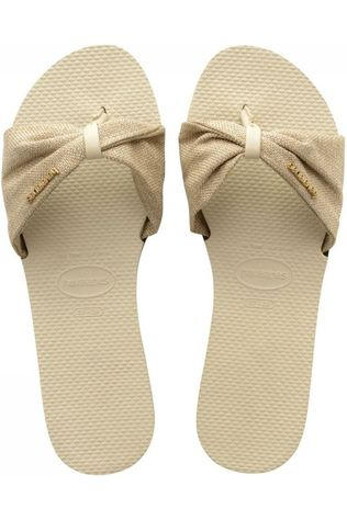 Havaianas Slipper You Saint Tropez Zandbruin/Goud