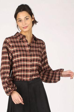 Catwalk Junkie Hemd Bl Brown Check Middenbruin/Zwart