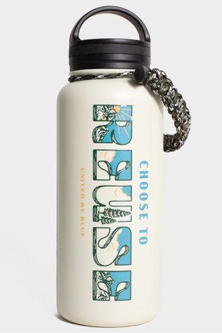 United by Blue Drinkfles 32 Oz Insulated Steel Bottle Choose To Reuse Gebroken Wit
