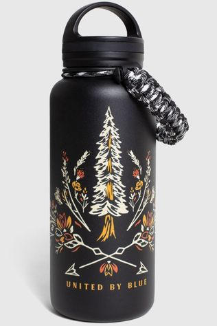 United by Blue Gourde 32 Oz Insulated Steel Bottle Bloom Wildly Noir/Blanc Cassé