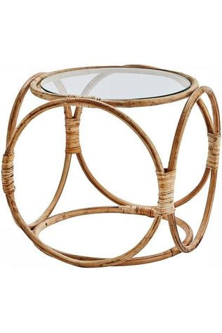 Madam Stoltz Table Bamboo Coffee Table Pas de couleur / Transparent