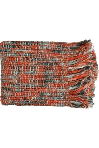 Pomax PLaid Savona L 150 x W 125 cm Orange/Bleu Moyen