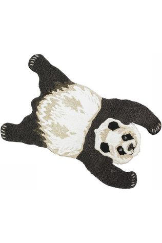 Doing Goods Tapis Plumpy Panda Rug Small Noir/Blanc