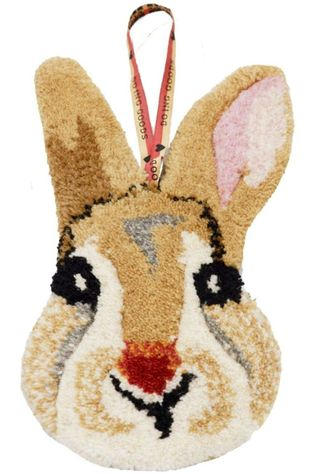 Doing Goods Tapis Betty Bunny Gifthanger Brun Clair/Blanc Cassé