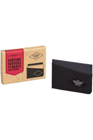 Gentlemen's Hardware Lederwaren Card Holder Middengrijs/Donkergrijs