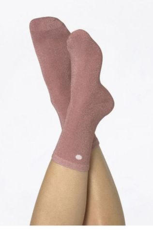 Doiy Accessoire Textile Chaussettes Coquillage Rose Rose Clair