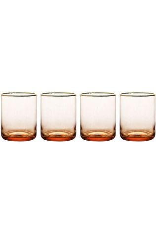 &KLEVERING Verre Gold Set Of 4 Rose Moyen
