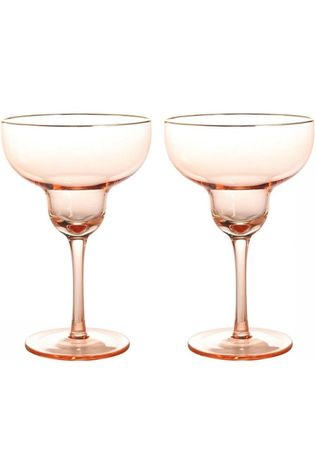 &KLEVERING Servies Margarita Glas Set van 2 Lichtroze