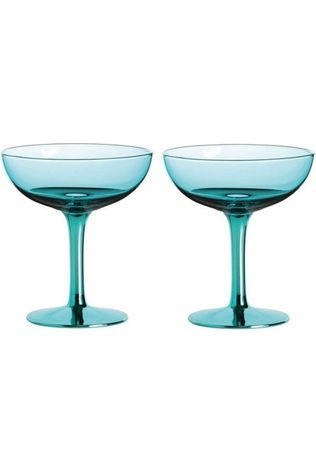 &KLEVERING Coupe Champagne Turquoise Middenblauw