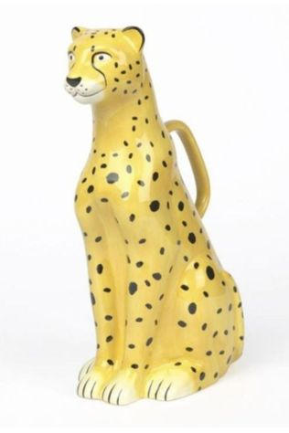 Doiy Tuinaccessoire Urban Jungle Watering Can Cheetah Zwart/Middengeel