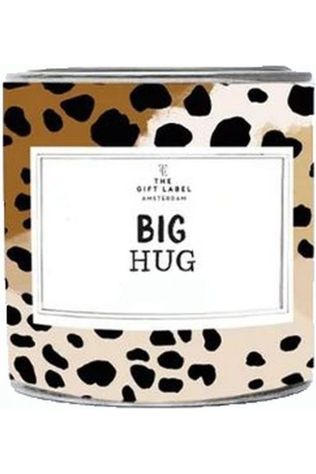 The Gift Label Kaars Big Hug Jasmine Vanille Lichtbruin/Donkerbruin