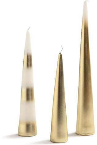 &KLEVERING Bougie Javelin Gold Set Of 3 Or