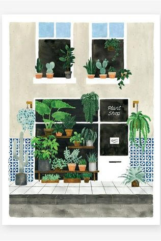 All the ways to say Poster Plant Nursery Small Geen kleur