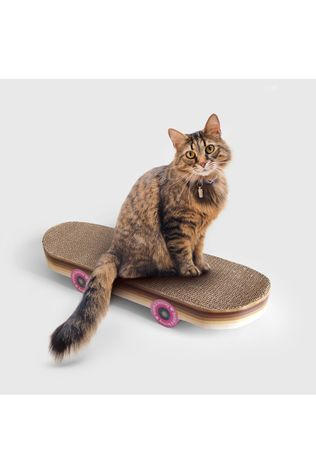 Suck UK Jeu Skateboard Cat Scratcher Pas de couleur