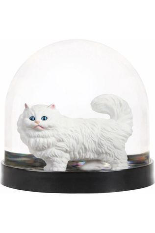 &KLEVERING Decoration Wonderball Cat Or/Blanc