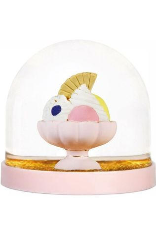 &KLEVERING Decoratie Wonderball Ice Coupe Goud/Lichtroze