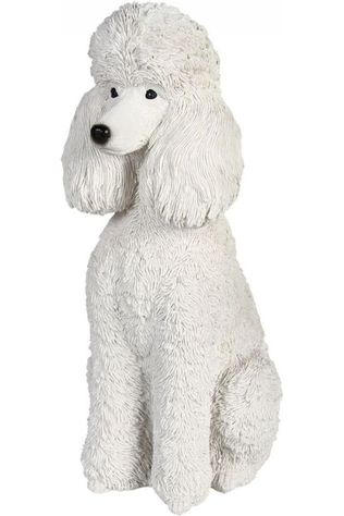 &KLEVERING Decoratie Coinbank Poodle Sitting Wit