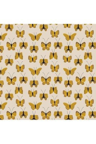 House of Products Inpakpapier Butterfly Yellow Lichtgeel/Middengeel