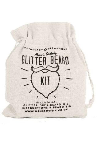 Men's Society Kerstcollectie Glitter Beard Kit Zilver