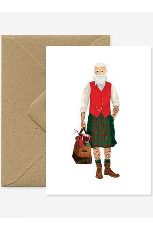 All the ways to say Carte de voeux Hipster Santa Pas de couleur / Transparent