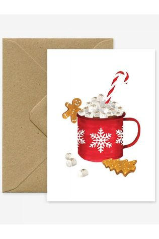 All the ways to say Carte de voeux Xmas Hot Chocolate Pas de couleur / Transparent