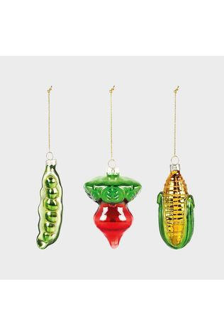 &KLEVERING Collection De Noel Ornament Vegetable Set Of 3 Assorti / Mixte