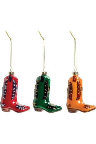 &KLEVERING Collection De Noel Ornament Boot Set Of 2 Assorti / Mixte