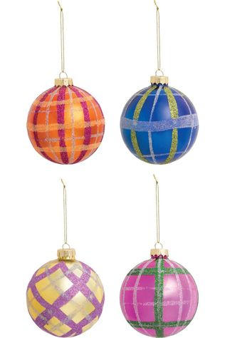 &KLEVERING Collection De Noel Ornament Check Set Of 4 Assorti / Mixte