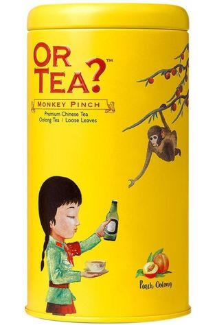 Or Tea? Thee Monkey Pinck Geen kleur