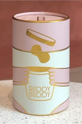 BUDDY BUDDY Accessoire Gift Canister Lichtroze/Goud