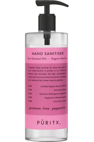 PURITX Handgel Geranium Rose Peppermint 250 ML Geen kleur / Transparant
