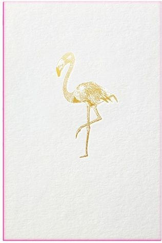 Papette Carte de Voeux Gold Fever Flamingo Pas de couleur / Transparent