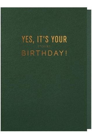 Papette Wenskaart Yes It'S Your F*Cking Birth Geen kleur / Transparant
