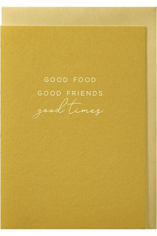 Papette Carte De Voeux Good Food Good Friends Good Times Pas de couleur