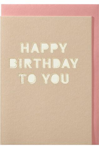 Papette Carte De Voeux Happy Birthday To You Pas de couleur