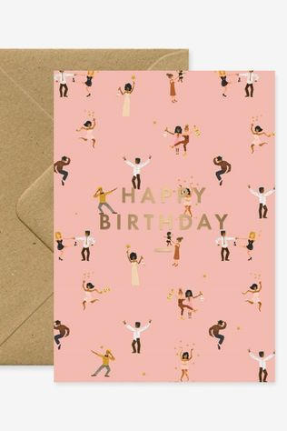 All the ways to say Wenskaart Birthday Dancers Geen kleur