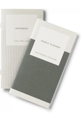 Kartotek Papierwaren Weekly Planner And Notebook Lichtgroen