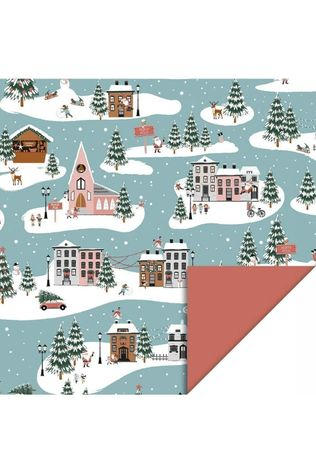 House of Products Papierwaren CR-X-MAS LANDSCAPE Middenblauw/Wit
